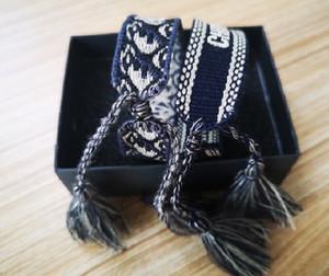Un classico bracciale con lettere Designer Firma, più gradite braccialetto intrecciato di cotone in USA UK ITALIA FRANCIA Belgio
