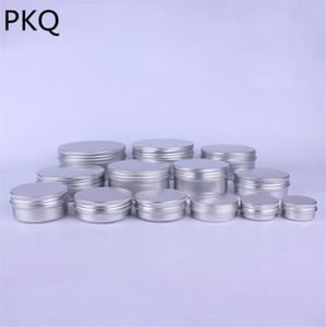 50 개 빈 알루미늄 항아리 주석 화장품 입술 용기 네일 장식 공예 냄비 10ml / 15ml / 25ml / 30ml / 50ml / 80ml / 100ml / 120ml / 150ml