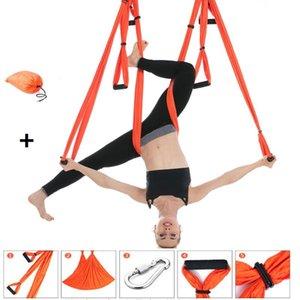 250*150cm Anti-gravity Aerial Yoga Hammock Strap Set Inversion Exercises Aerial Silk Yoga Swing Pilate Belt Home Fitness