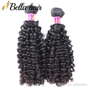 Bella 2pcs / lot peruana Curly Cabelo Humano Top Quality peruana Extensões de Cabelo Natural Cor do cabelo peruano Pacotes frete grátis