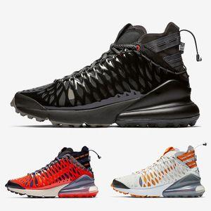 Nike ISPA Air Max 270 SP SOE Negro Antracita Ispa SP SOE Hombres mujeres Zapatillas de deporte Terra Orange Cushion Designer White Ghost Hombres Zapatillas deportivas 36-45