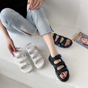 Plage Sandale Femme Luxe Mode Femmes Chaussures 2020 Femme Sandales Med Espadrilles plateforme talon compensé Muffins Pour les marques