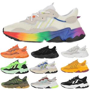 2020 Ozweego Pride Triple Black Neon Green Sun Yellow Rainbow Shoes Men Women Kanye West 500 Orange Dad Sneakers