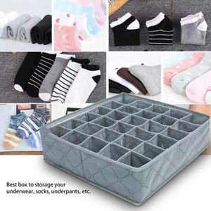30 Grids Underwear Socks Storage Drawer Closet Bamboo Charcoal Organizer YU-Home Y200628