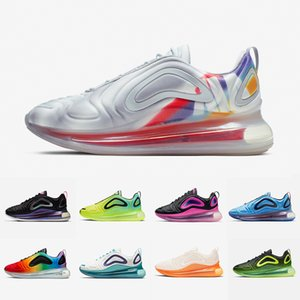 nike Air Max 720 airmax 720 shoes Platino Zapatillas de running Sea Forest Team Crimson Red Sunrise Atardecer Deep blue Pink sea Sports Zapatillas de deporte hombres mujeres