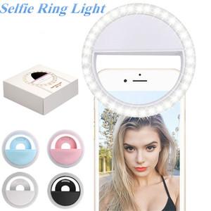 Уровень RK12 3 регулируемый светодиодный селфи Кольцо света USB зарядка портативный светодиодной вспышкой камеры телефона Selfie кольцо света видео клип света ночь повышение