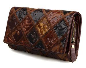 JMD Бесплатная доставка загорелая натуральная кожа сложенный кошелек для женщин портмоне 8094