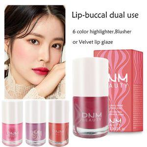 DNM Flüssiger Lippenstift Rouge Makeup Lip Tint Färben Wasserdicht Blush Makeup Lip Sense Face Beauty Make-up kosmetische