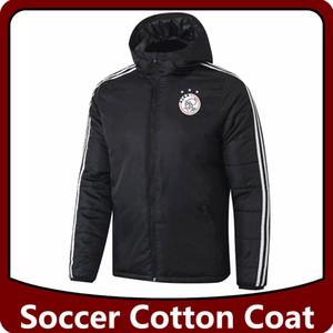 ajax capa del algodón del fútbol chaquetas, chaquetas con capucha de fútbol Ajax de algodón chaquetas chándales traje de entrenamiento abrigo de invierno cortavientos Operando