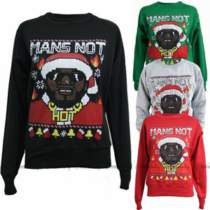 Papai Noel Imprimir Natal Sweater Unisex Pullover Homens Mulheres Pares do inverno jumper Camisolas e blusas 2019 Moda T Tops