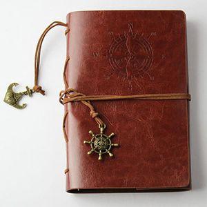 PU artificiale Planner Pirate sostituibile Strap Classic Vintage cancelleria Diario spirale ufficiale Notebook