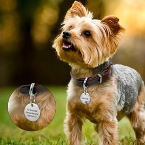 Custom Dog Tag Engraved Pet Dog Collar Accessories Personalized Cat Puppy ID Tag Stainless Steel Paw Name Tags Pendant Anti-lost Sweet07