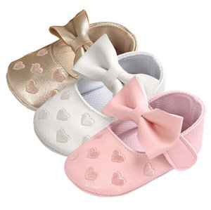 Toddlers Infant Baby Girl Leather Shoes 2019 NEW Toddler Bowknot Moccasins Soft Sole Prewalker Shoes