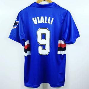 Retro Sampdoria 1991-1992 Futbol Formalar Futbol Vintage Futbol Camiseta Klasik Gömlek Seti Maillot Maglia Tops