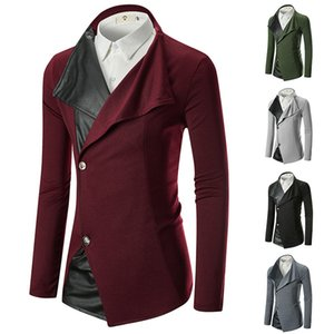 Spring And Autumn New Style Casual Fashion Men Ouma Hide Substance Joint Button Knit Suit Coat