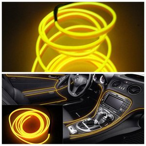 7 couleurs 5M 12V Flexible Neon Glow Light EL Wire Rope bande câble bande LED Neon Lights Chaussures Vêtements voiture décoratif Lampe Ruban