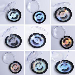 3D Silk Protein Nerz Falsche Wimpern Langlebige Wimpern Weiche Natürliche Nerz Wimpern Augen Makeup Tool Runde Box Verpackung TTA516