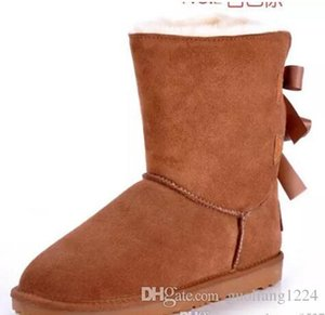 Women's boots bow knot new women's snow boots thick boots