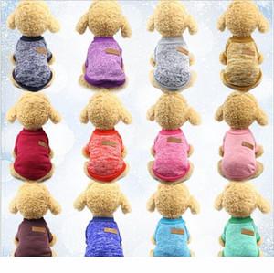 Klasikler Pet Köpek Triko Coat Sonbahar Savunma Soğuk Pamuk Yavru Kedi Örgü Köpekler Sweatershirt Giyim Isınma Elbiseler