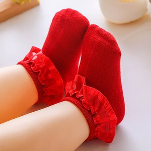 0-12 Months Newborn Baby Socks Solid Color Cotton Ruffle Baby Girl Socks Princess Infant Lace Short Socks Spring Autumn