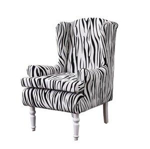 Stretch Ala Chair Covers piuma elegante stampa floreale Poltrona Covers elastico Wingback Chair Slipcovers antisdrucciolevoli Poltrona copertura della protezione della