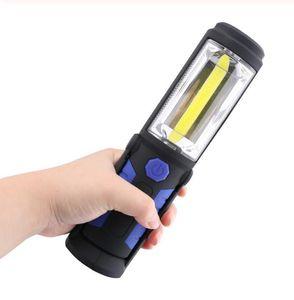 USB Rechargeable COB LED Flashlight COB light strip +1LED Torch Work Hand Lamp lantern Magnetic Waterproof Emergency LED Light