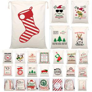 Le plus récent de Noël Père Noël Père Noël Sacs Sack Sac à cordonnet toile Sucrerie Sacs Cadeaux Enfants Cadeaux de Noël 54 Reindeers arbre Styles WX9-1550