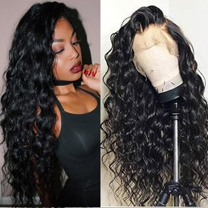 Water Wave Transparent Lace Front Human Hair Wigs Pre Plucked 150% 180% 250% Brazilian Hair Lace Wigs For Women