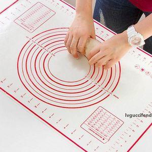 Silikon Yoğurma Mat Pişirme Mat Kek Macaron Pişirme Mutfak Aksesuar kalın Pişirme Yoğurma Pad Sheet Glass Fiber Rolling Yapışmaz