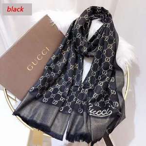 Brand New Scarf For women Luxury Letter Pattern Cotton Gold thread Designer Scarfs Warm Scarves Size 180X70CM Top Quality