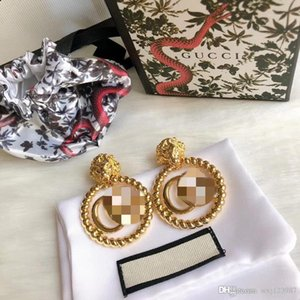 2019 autumn and winter without pierced gold color twist circle letter ear clip female