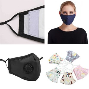 new 2PCS Filter With Breather Valve Mouth Face Mask Plaid Print Civil Dustproof Washable Fast delivery