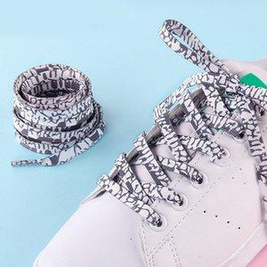 1 paire Mode imprimé de gradient Rainbow Flat Les Lacets polyester lacets élastiques roses mignons chaînes de lacet de chaussure