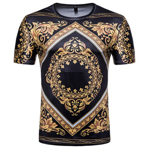 New Hot Fashion 3D Skulls Stampa Versace T-shirt da uomo Medusa Uomo T Shirt Manica corta Estate Abbigliamento Hombre Camiseta Taglia asiatica Run Small M-XXXL