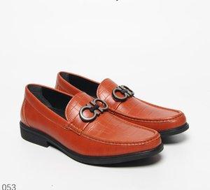 Modelo de piedra de cuero real de los zapatos de vestir masculino hebillas metálicas pie fiesta de boda de lujo de diseño zapatos casuales Zapatos 40-46