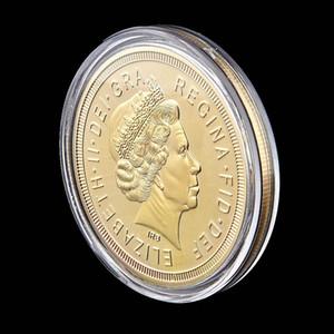 1 oz Altın Kaplama Souvenir Coin Of Free Gemi 2013 Büyük Britanya Queen Elizabeth George Sovereign
