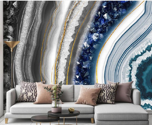Modern light luxury marble wallpapers pattern TV background wall 3d wallpapers