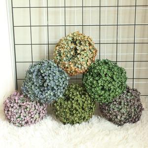 5 fiore del petalo Recinto Erba sfera di simulazione di plastica Fiore Agriturismo Decor Wedding Marriage Tenere parete pianta falsa fiori decorazione del giardino