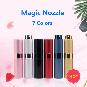 7 Colors Spray Bottle Metal aluminum Portable Refillable Perfume Jar Cosmetic Container Empty Atomizer Travel Liner Glass Containers