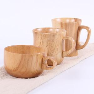 Alcol in legno tazza della tazza per la barra domestica Caffè Tè Birra Succo di frutta Latte tazza di tè anti-scottatura tazza di acqua solo orecchio DHL WX9-1857