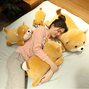 Nueva llegada 35-75CM Corgi lindo perro de Shiba Inu juguetes de peluche kawaii mentira Husky almohada suave relleno animales muñecas regalo de los niños del bebé