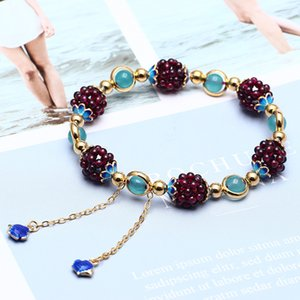 YULNG high quality natural garnet bracelet should be owned by each woman's jewelry
