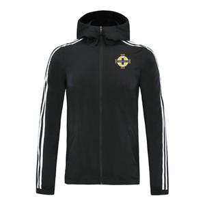 2020 Irlanda del Nord da calcio con cappuccio giacca a vento cerniera mens calcio giacca a vento superiore della chiusura lampo del hoodie Sportswear Giacche corsa