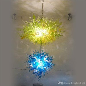 Нового Contemporary Специального Красочного Flush Mount Ceicling Свет выдувного стекло люстра Освещение городского потолок канделябр