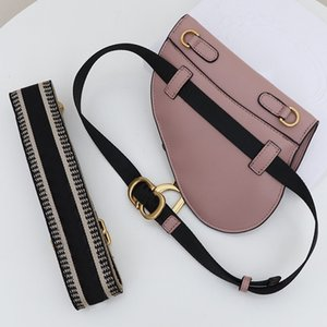 Qualitäts-Schwarz-Kuh-Leder-Gürtel Neue Satteltaschen Schulter Messenger Bag Satteltasche Retro Handy-Beutel Schnalle breiten