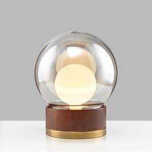 Moderne Creative Wood Art Glass Tischlampe Bar Hotel Study Schlafzimmer Nacht Desk Light Fixture TA139