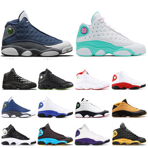 New 13 13s Men Basketball Shoes Island Green Bred Chicago Flint 13s Melo DMP Playoff Hyper Royal He Got Game Sneakers 7-13