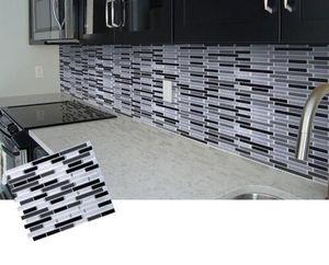 모자이크 자체 접착 타일 Backsplash에 벽 스티커 욕실 주방 홈 장식 DIY W4