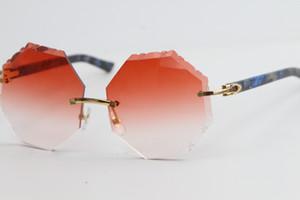 La vente de lunettes de soleil cerclées Mix Métal Blue Marble Plank 4189706 Geometnic Lunettes Formes unique surdimensionné Formes de haute qualité C Décoration