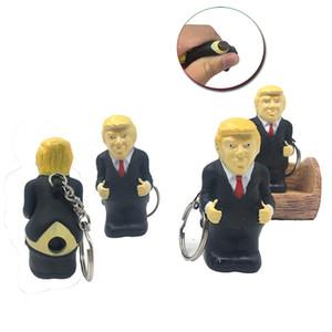 Творческий Trump брелок Squeeze Игрушка отжимают Табурет Будет Vent Vent Spoof Keychain Игрушка партия Фавор XD23508